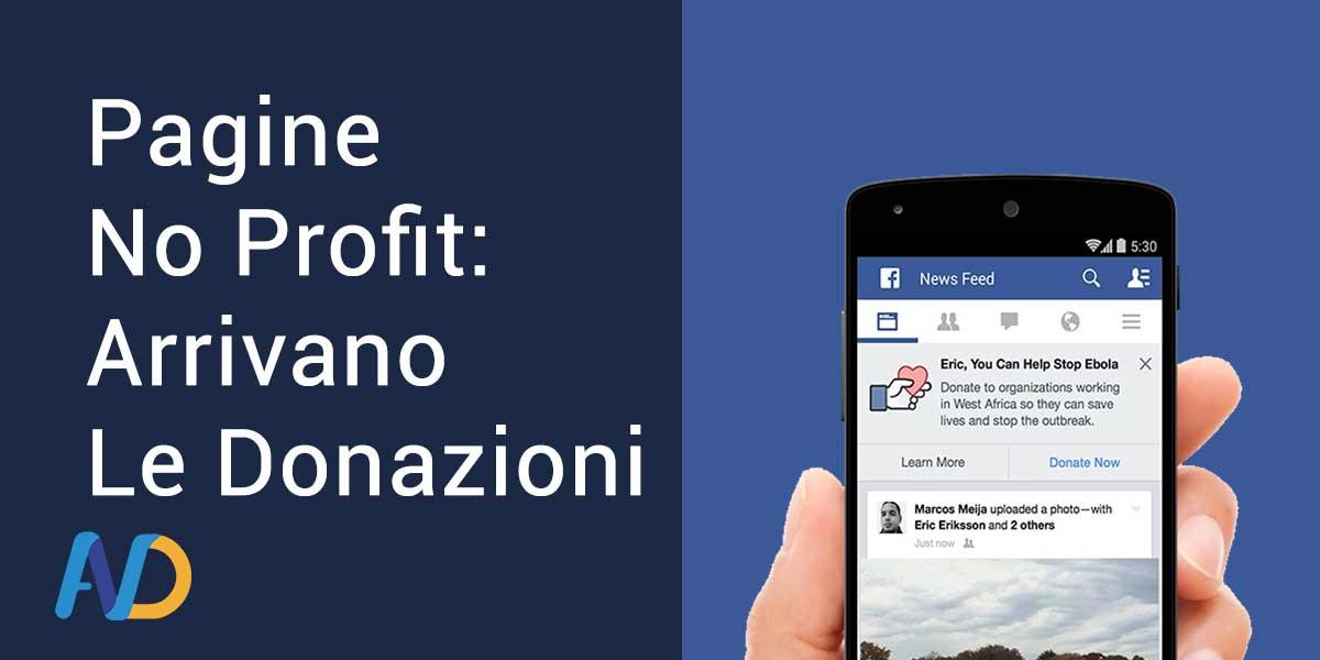 Donazioni su Facebook per le Pagine No Profit