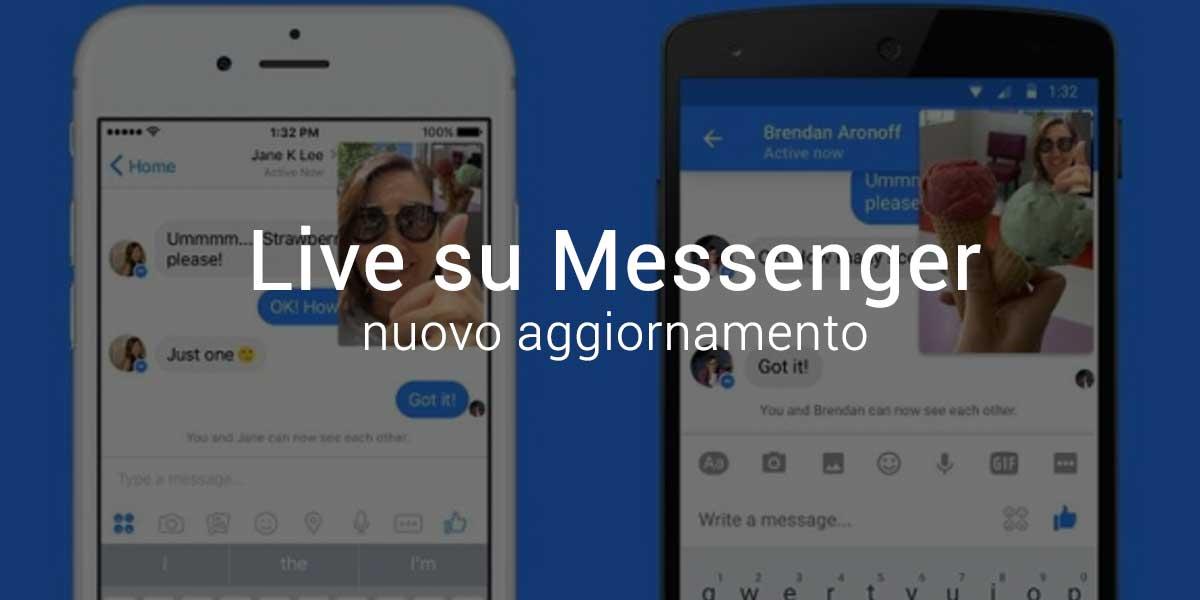 Video in Diretta Live su Facebook Messenger