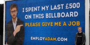adam pacitti cartellone pubblicitario