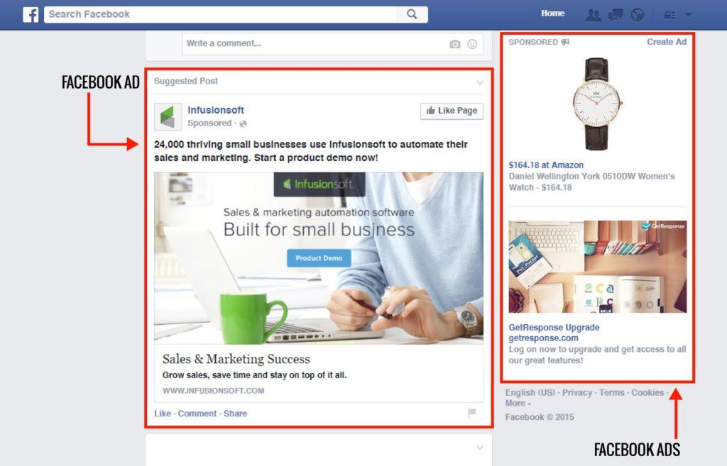 facebook ads esempio