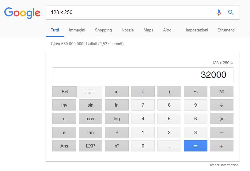 Risultato Matematico