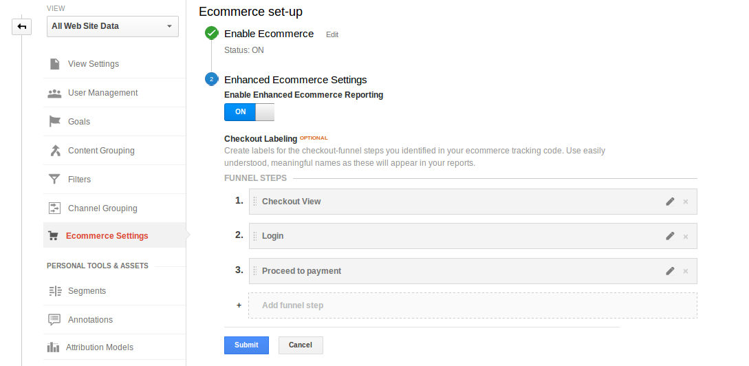 Ecommerce Avanzato Google Analytics