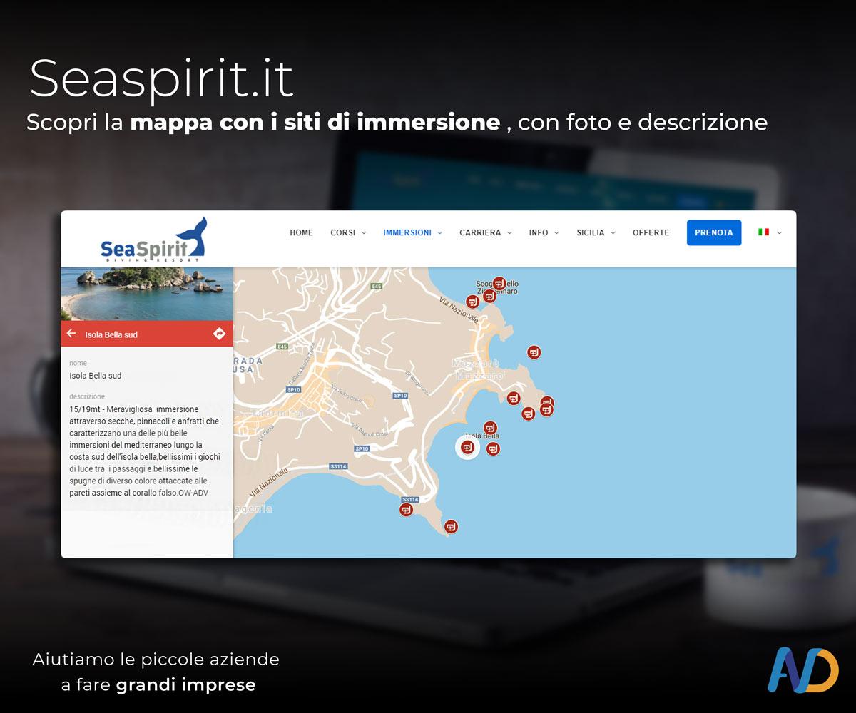 Immagini Presentazione Seaspirit   Mappa Siti D'immersione 2