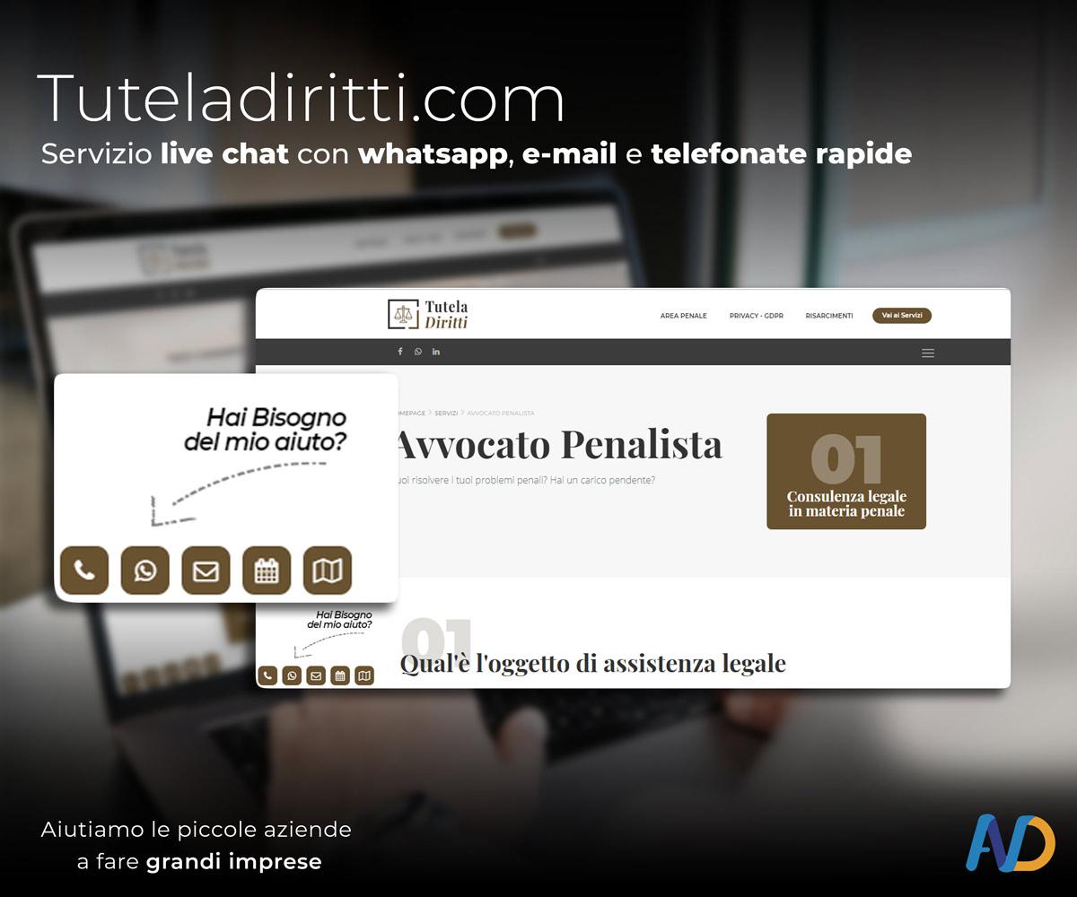 Immagini Presentazione Tutela Diritti Servizio Live Chat
