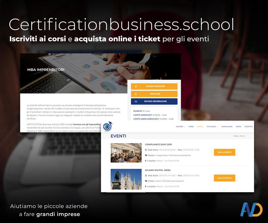Presentazione Certification Business School   Sezione Corsi Ed Eventi