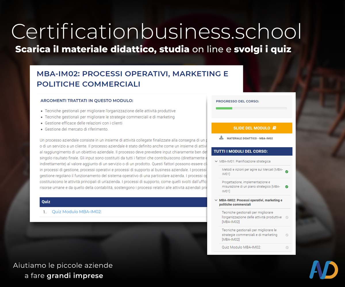 Presentazione Certification Business School   Studia On Line2